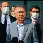 ترک نائب صدر فواد اوکتے شمالی قبرص پہنچ گئے